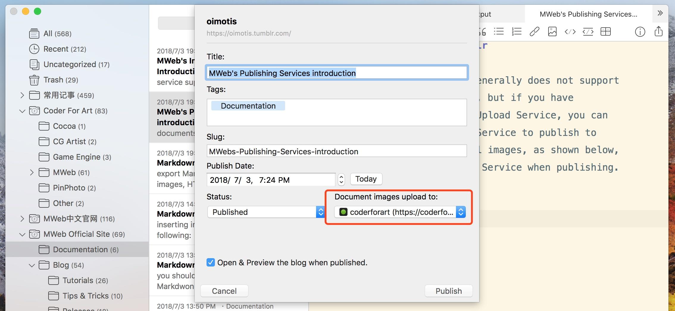 MWeb's Publishing Services introduction - MWeb